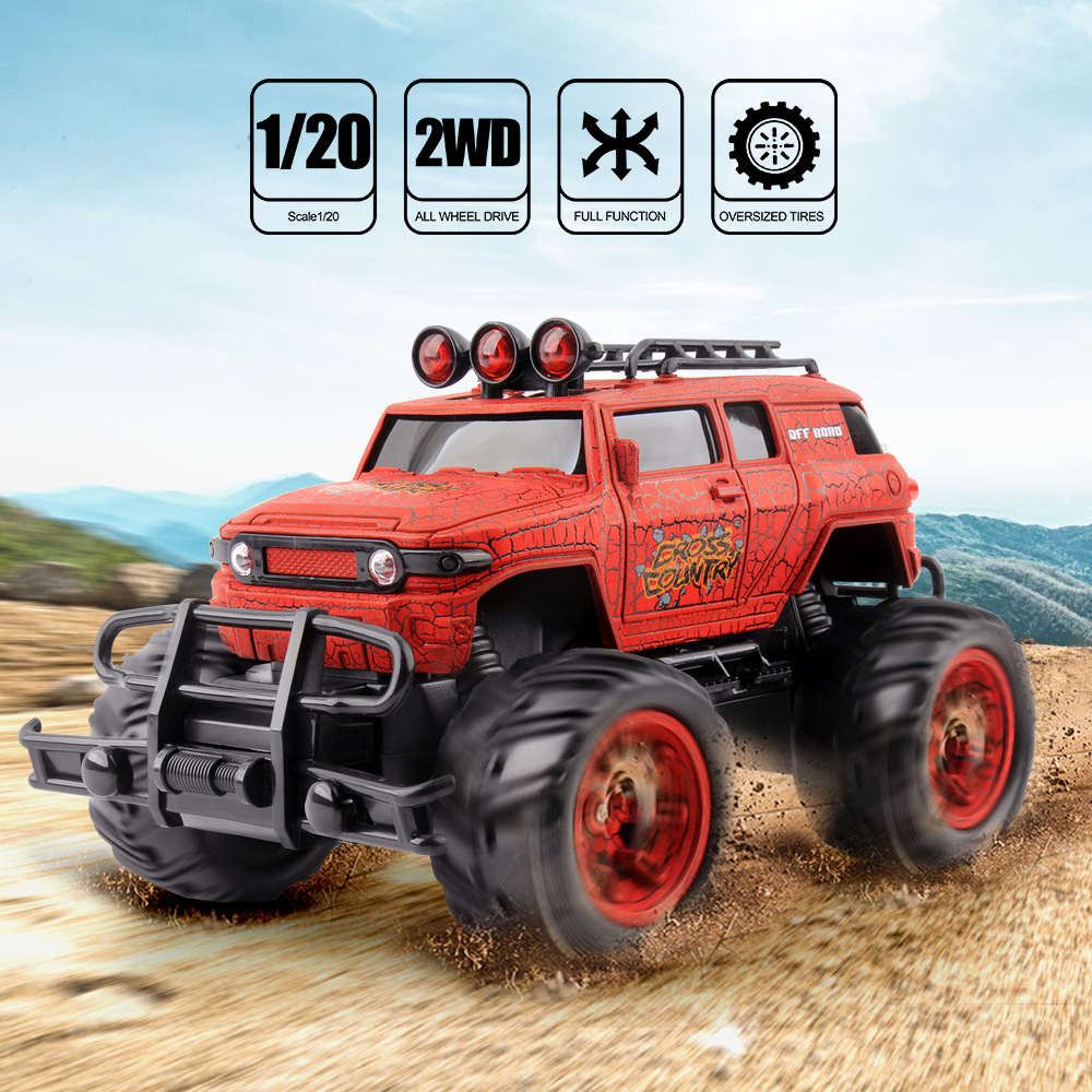 GizmoVine 1/20 RC Car Cross Country Rc Radio Controlled Machine 27MHZ Monstertruck Off Road Cars Toys For Children
