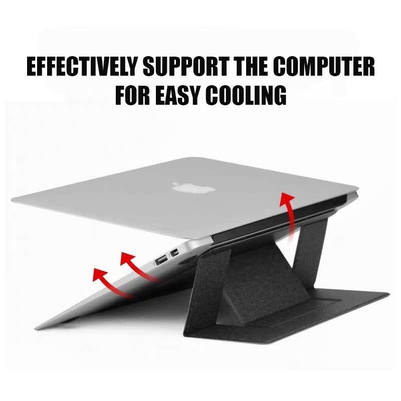 Ergonomic laptop stand portable foldable invisible bracket holder for macbook pro