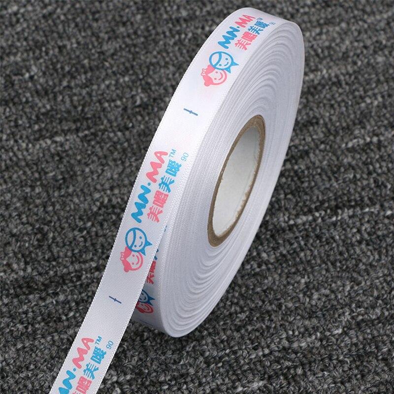Индивидуальный фирменный логотип Размер этикетки для одежды сатиновая хлопковая печатная этикетка моющаяся для одежды/сумки/рубашки/сумки ярлыки