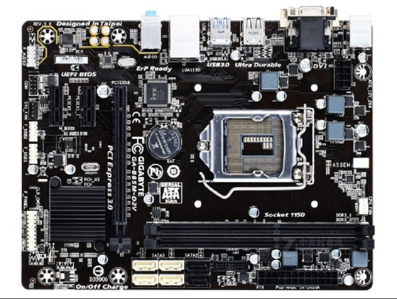 Gigabyte GA-B85M-D2V For Intel LGA1150 Micro ATX B85 PC Motherboard DDR3 16GB