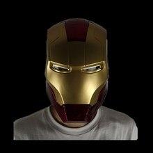 Для Мстителей, для косплея Железного человека, маска Tony Stark, на всю голову, светодиодный, открытый шлем, ПВХ, маски для детей и взрослых, для Хэллоуина, вечерние, реквизиты