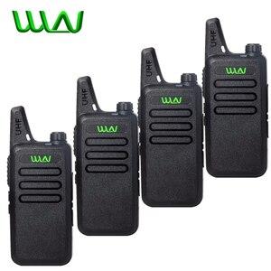 Image 1 - 4 pces wln Kd C1 mini walkie talkie portátil silm rádio sem fio handheld kdc1 c2 rádio em dois sentidos transceptor hf ham estação de rádio