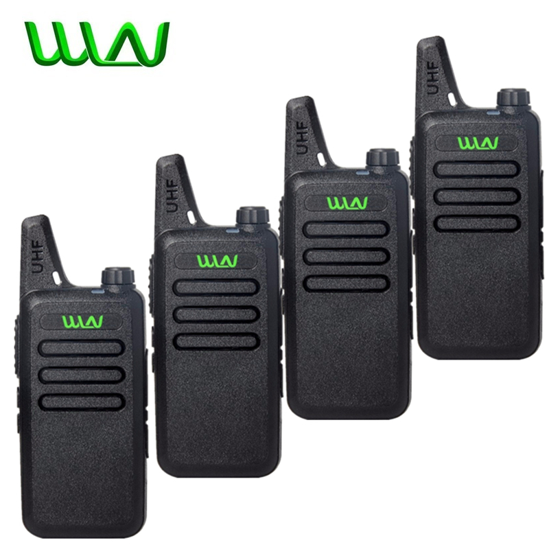4Pcs WLN Kd-C1 Mini Walkie Talkie Portable Wireless Radio Silm Handheld KDC1 C2 Two Way Radio Transceiver HF Ham Radio Station