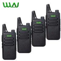 4Pcs WLN Kd C1 Mini Walkie Talkie Portable Wireless Radio Silm Handheld KDC1 C2 Two Way Radio Transceiver HF Ham Radio Station