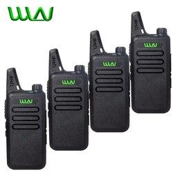 4Pcs WLN Kd-C1 Mini Walkie Talkie Tragbare Drahtlose Radio Silm Handheld KDC1 C2 Two Way Radio Transceiver HF Ham radio Station
