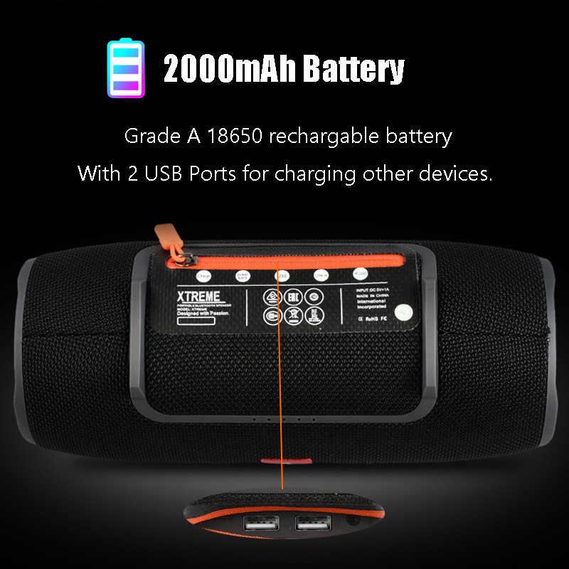 Bass Woofer Speaker USB Musik Stereo Portable Shower Speaker Outdoor Nirkabel Tahan Air Bluetooth Louderspeaker untuk Ponsel MP3