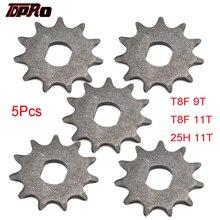 Цепь TDPRO 9T 11T, передняя Звездочка, часть 2-тактного двигателя, подходит для карманных мини-скутеров, квадроциклов, 47cc 49cc, 25H, T8F, 5 шт.