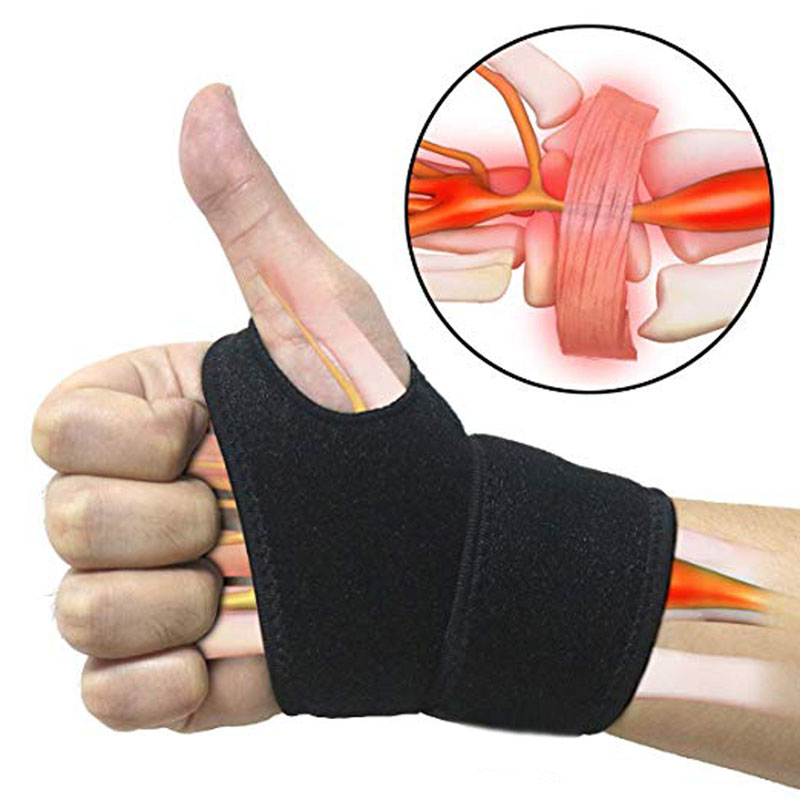 1PCS Reversible Wrist Brace Support Fitted Right/Left Thumb Stabilizer Adjustable Wrist Support Wrap For Volleyball Badminton
