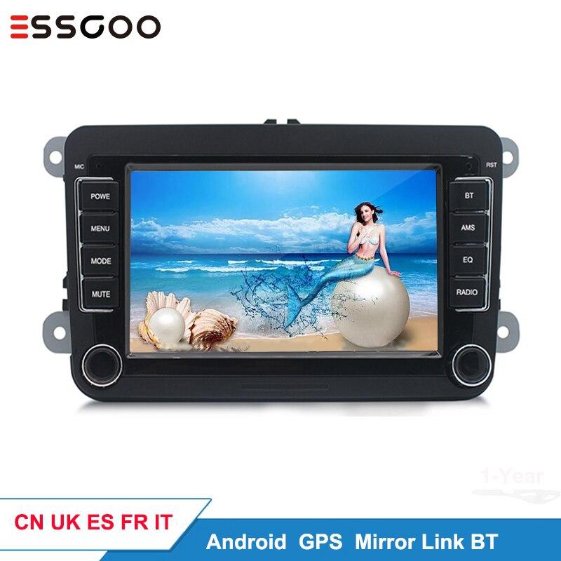 Essgoo Android 7 ''автомобильный мультимедийный плеер Поддержка GPS навигация Авторадио 2din стерео видео MP5 автомобильное радио для Volkswagen для VW