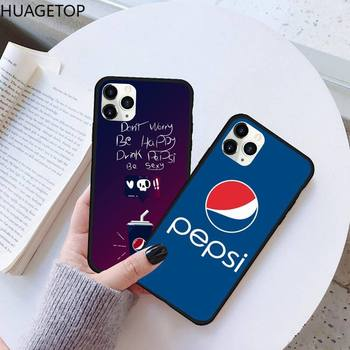 Coke brand Peps Customer Phone Case Rubber for iPhone 11 pro XS MAX 8 7 6 6S Plus X 5S SE 2020 XR case image