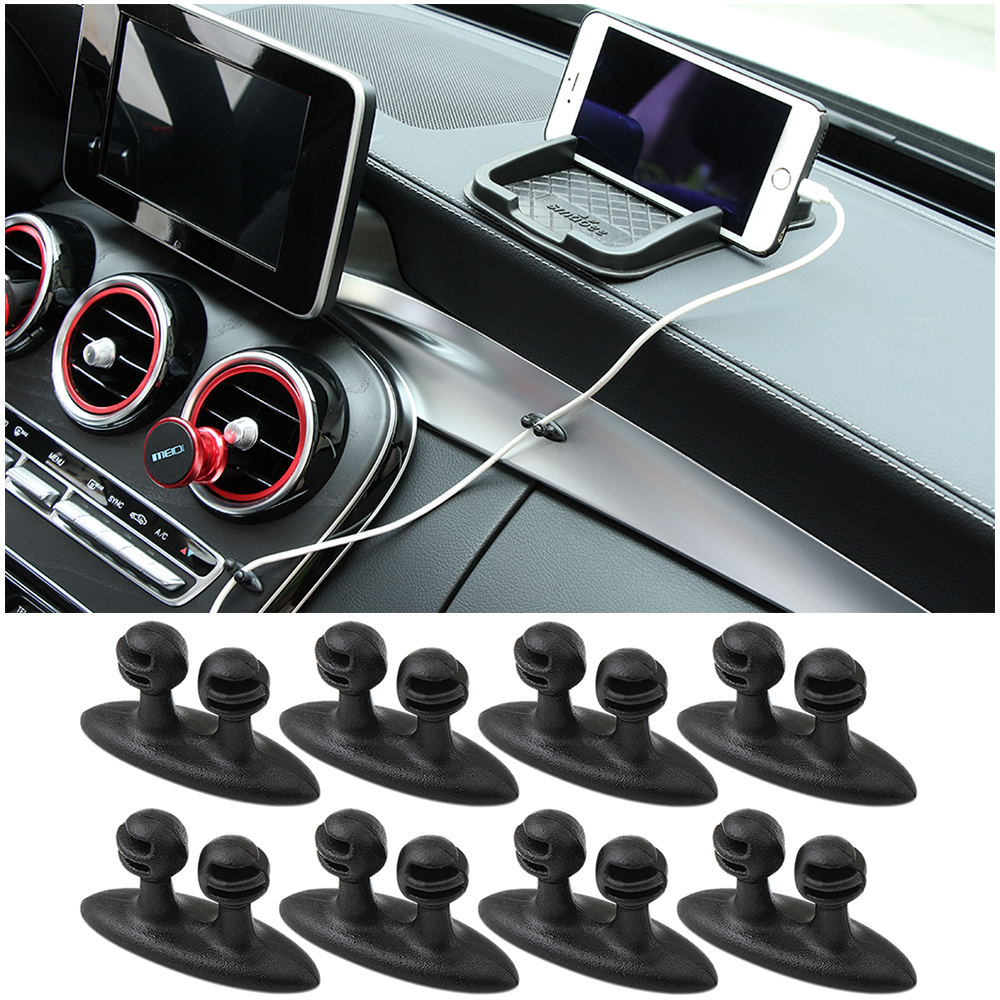8pcs universal Multifunction data cable car charger clip for Skoda Octavia A2 A5 A7 Fabia Rapid Superb Yeti Roomster