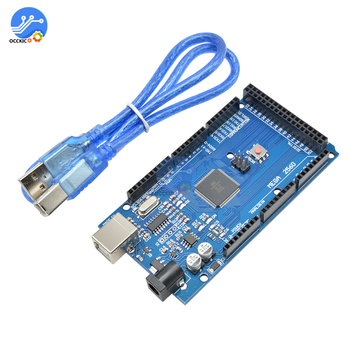 MEGA2560 Mega 2560 R3 REV3 ATmega2560-16AU CH340G Board Module ON USB Cable Compatible for AVR USB Board USB Line DIY kit