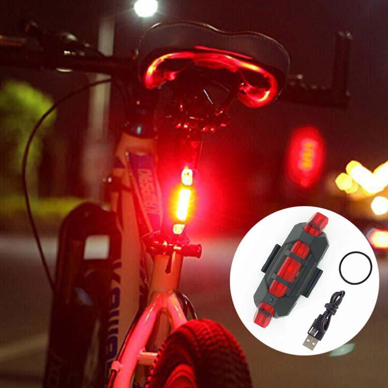 two front zoom LED /& rear 5 LEDS bike lights set kit waterproof light cycle mini