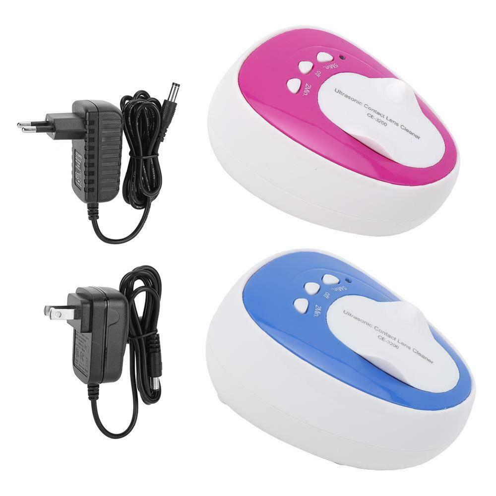 New Ultrasonic Contact Lenses Cleaner 2 minutes Clean Daily Care Solution Automatic High Frequency Cleaning Machine image