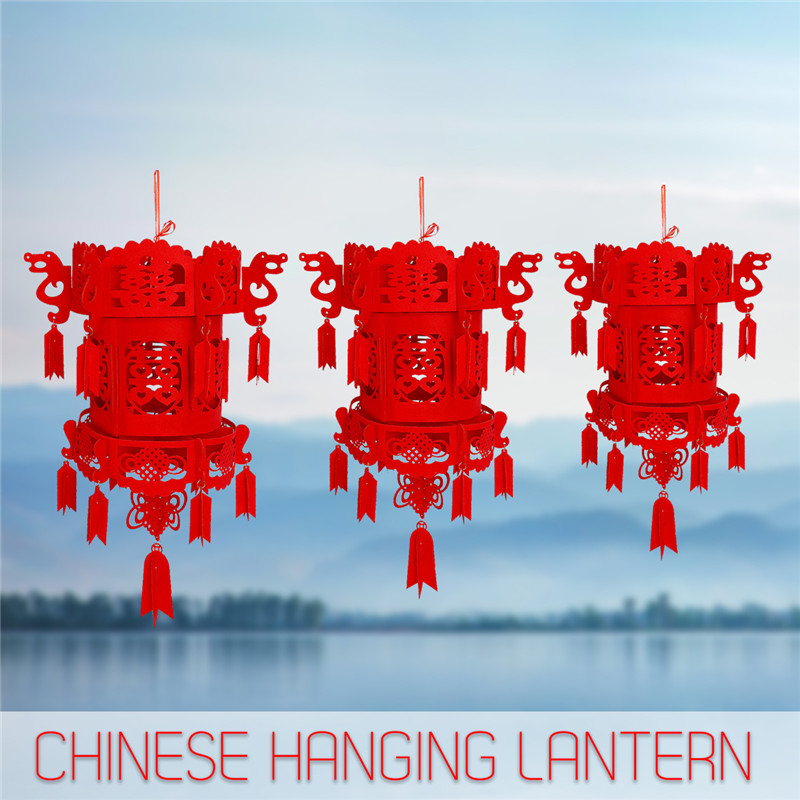 Holiday Lighting Chinese Hanging Lantern Red L M S  Red Chinese Tassel Hanging Lantern Rooftop Wedding Room New Year Party