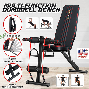GRT Fitness Adjustable-Sit-up-Bench-Workout-Gym-Exercise-Strength-Training-Press-Flat-Sit-Up-Abdominal-Muscle-Workout.jpg_350x350 Adjustable Sit-up Bench Workout Gym Exercise Strength Training Press Flat Sit Up Abdominal Muscle Workout