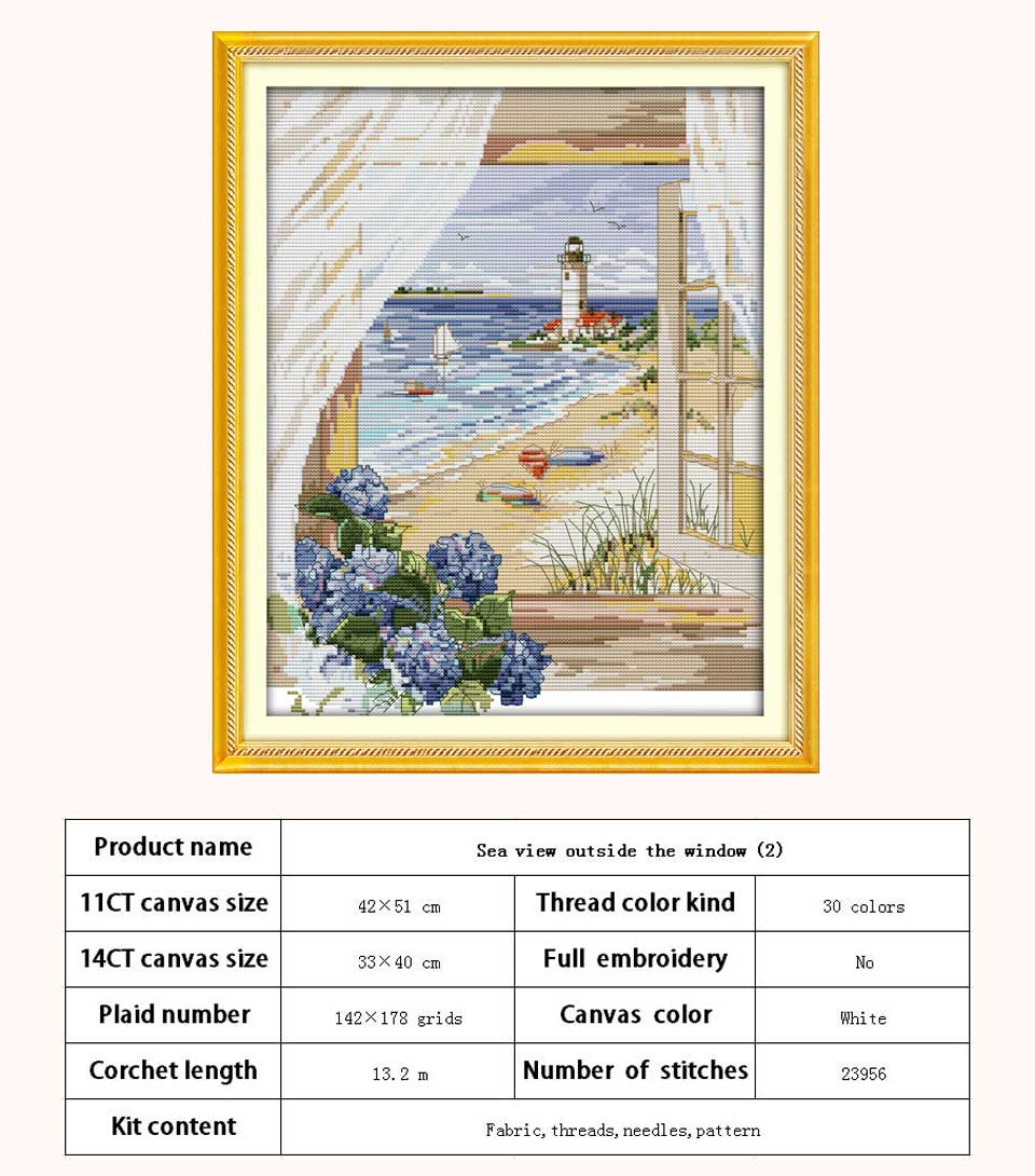 The Surf ~ Seascapes ~ DIY Counted Cross Stitch Pattern
