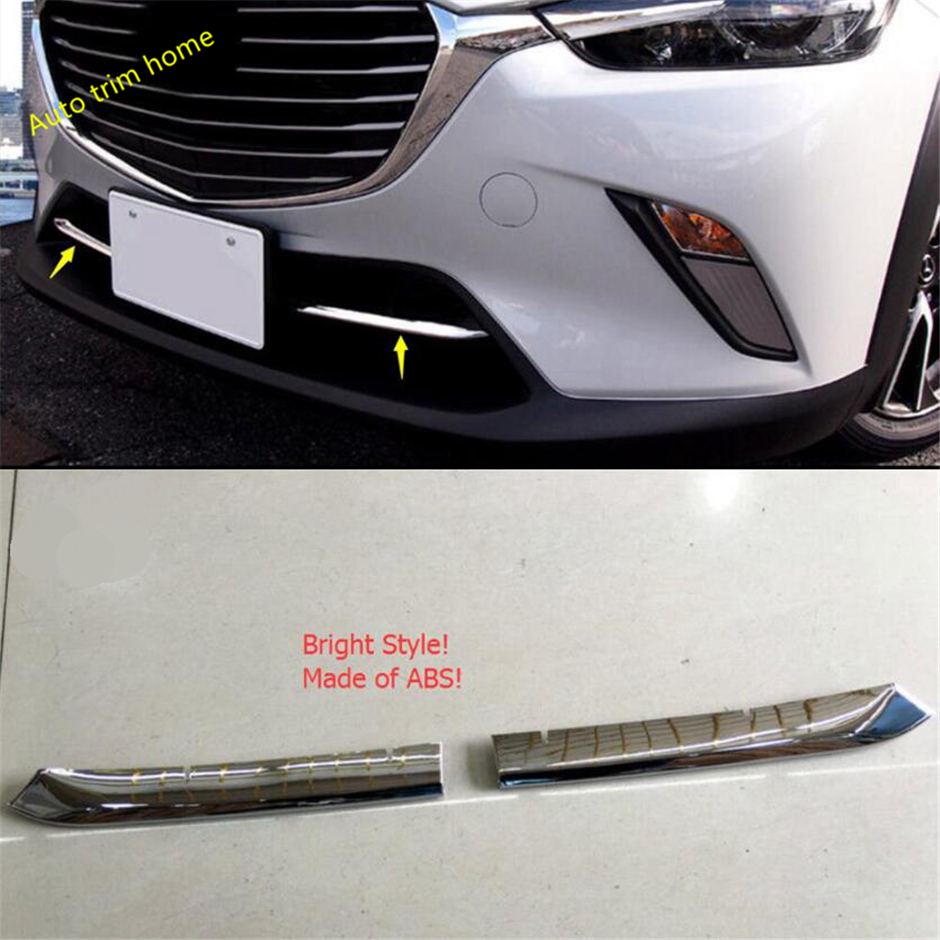 Lapetus Front Bumper Air-inlet Grille Grill Bottom Mouldings Panel Cover Trim Fit For <font><b>Mazda</b></font> CX-3 <font><b>CX3</b></font> 2016 - <font><b>2019</b></font> ABS Chrome Red image
