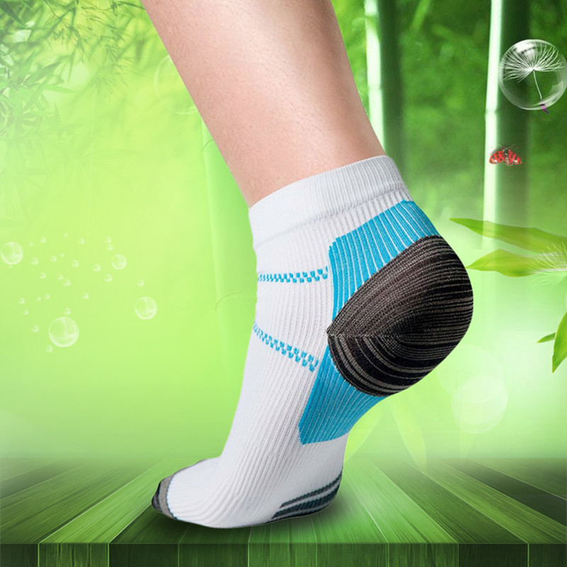 1pair Sports Socks Miracle Foot Compression Socks Anti-Fatigue Breathable Plantar Fasciitis Heel Arch Pain Relieving Socks