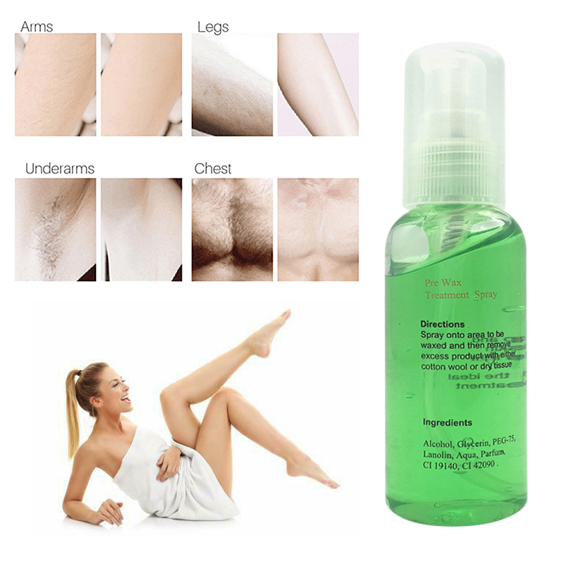 Hair Removal Cleaning Gel Hair Removal Spray Treatment Liquid Hair Removal Waxing Spray Natural Permanent Hair Removal Spray