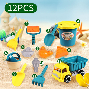 12pcs  Beach Toy Shovels Kids Play Sand Shovel Snow Tools Summer Seaside Dig Soil Classical Water Toys