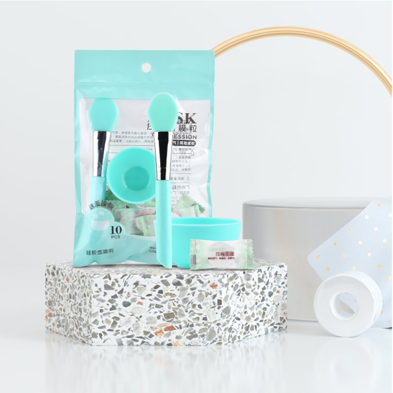 10pcs Face Mask Paper Mask Mixing Bowl Silicone Mask Brush Set Face Care Soft Skin Care Mud Mixing Face Mask DIY Women Makeup n