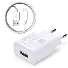 Para xiaomi carregador 5v 2a ue tipo-c micro cabo de dados usb telefone adaptador de carregamento mi5 max 3s redmi nota 3 4 6 7 8 8t pro 4x 5 5S