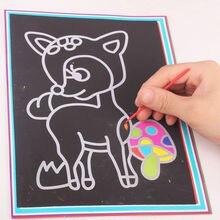 1 шт. Царапина бумага магия живопись бумага с рисунком палка для детей поделки красочный рисунок игрушки 26,5 см% 2A19 см