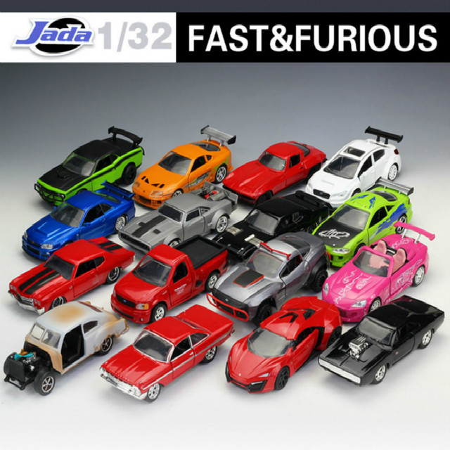 1:32 Jada Classic Metal Fast and Furious 8 Race Car Alloy Diecast Toy Model CarsToy For Children Gifts Collection Free Shipping