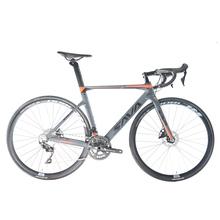 Opony SAVA 2019 węgla rower szosowy hamulce tarczowe rower szosowy węgla rower szosowy 700c rower szosowy węgla z SHIMANO 105 velo istnieje wiele przejazdów carbone tanie tanio Unisex Z włókna węglowego Ze stopu aluminium ze stopu aluminium Mężczyźni 160-180 cm 9 kg Podwójne hamulce tarczowe
