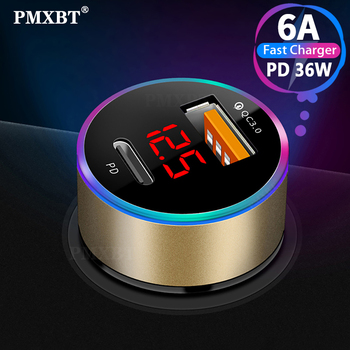 Quick Charge 4.0 3.0 QC USB Car Charger for Xiaomi QC4.0 QC3.0 36W Type C PD Car Phone Charging for iPhone 11 Pro Max PD Charger tronsmart quick charge 3 0 36w 2 ports type a usb car charger