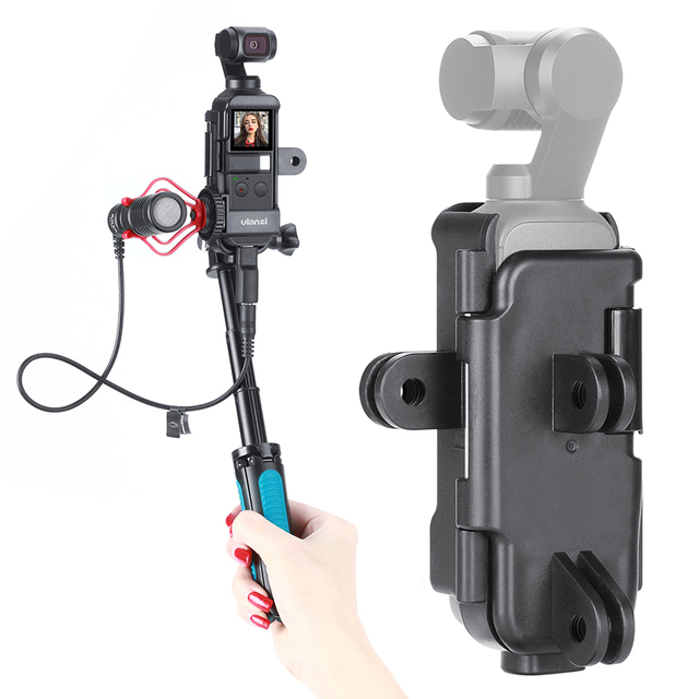 Ulanzi OP 7 Vlog Case Housing for DJI Osmo Pocket Extend Mount Adapter with 1/4 Screw Cold Shoe for Microphone LED Light