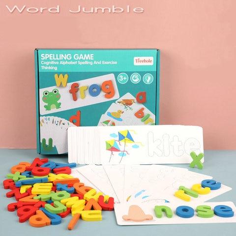 ortografia ingles palavras carta de madeira bebe