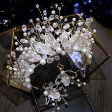 Свадебный головной убор для невесты супер сказочная корона с