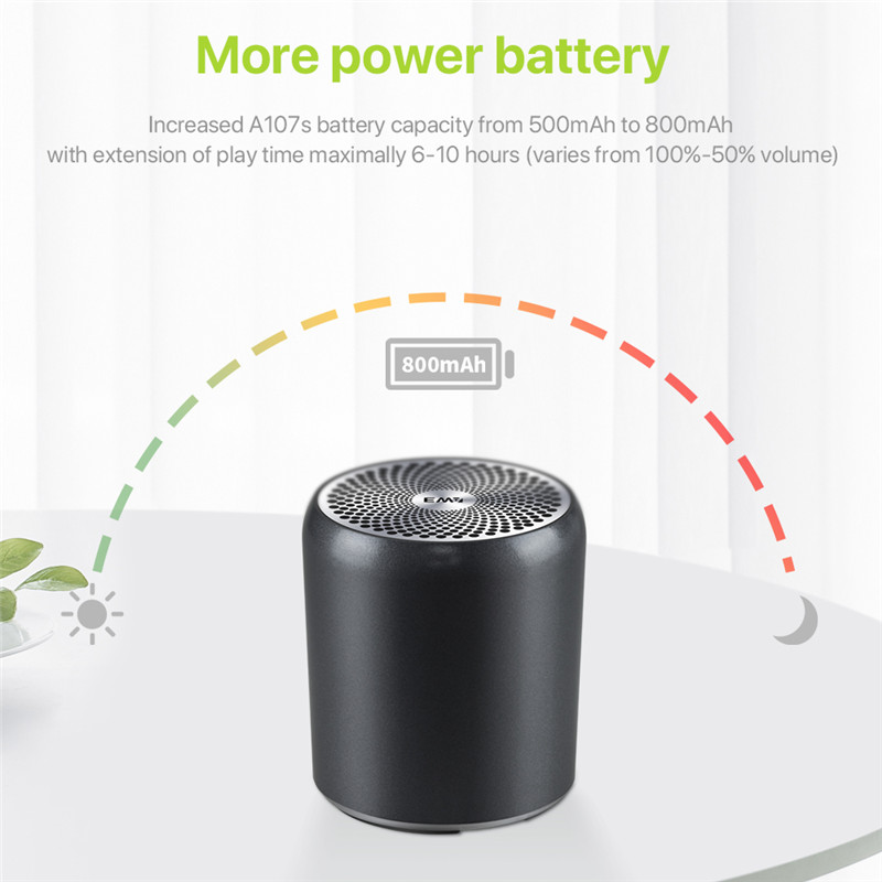 Image 3 - EWA A107s Mini Bluetooth Speaker, True Wireless Stereo(TWS), Enhance Bass Radiator, Portable Speaker Bluetooth 5.0Portable Speakers   -