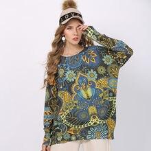 Женские винтажные свитера вязаные пуловеры с принтом свитер