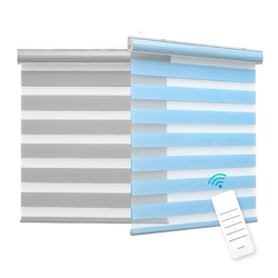 Double layer Day and Night Indoor Shade Window Manual Zebra Blinds Shade Dual Roller Blinds
