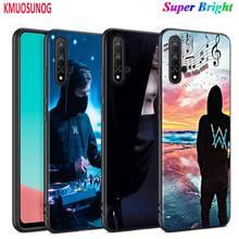 Black Cover Alan Walker Fashion for Huawei Nova 5 3i P Smart Z Plus 2019 P30 P20 Pro P10 P9 P8 Lite Plus Phone Case alan walker bergen