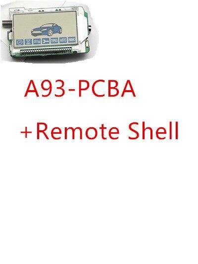 Alarme do assaltante chaveiro a93 controle remoto + silicone caso para sistema de alarme de carro anti roubo em dois sentidos starline a93
