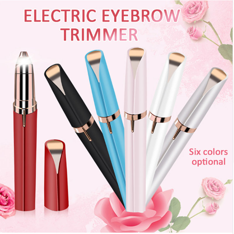 Dry Battery Lipstick Shape Eyebrow Shaping Device USB Charging Face Electric Hair Removal Device Lipstick Eyebrow Shaping Knife