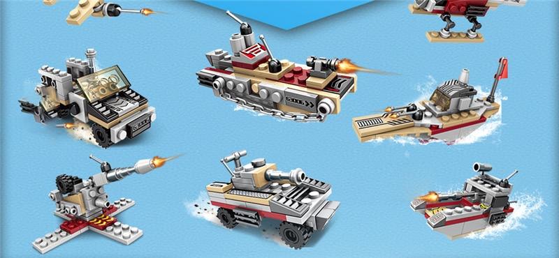 1000+ PCS Military Warship Navy Aircraft Army Figures Building Blocks LegoINGlys Army Warship Construction Bricks Children Toys (19)