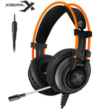 Xiberia K9 PRO PC Headset Gaming Headphones with Microphone LED Light for Laptop Computer PS4 Stereo Game Headsets Bass Casques ep 16 headband style headphones game headset with hd microphone 3d stereo bass handsfree talking for computer laptop ipad pc