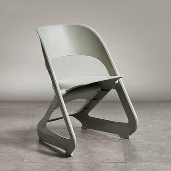 Nowoczesne plastikowe składane plastikowe krzesło restauracja na krzesło do jadalni Cafe Bar spotkanie biznesowe nauka w domu sypialnia krzesła do jadalni| |   -