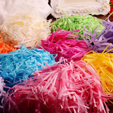 10gColorful Shredded Paper Gift Boxes Filler Crinkle Cut Paper Shred Packaging Gift Bag Wedding Birthday Party Favors Decoration