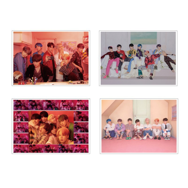 Sticker BTS Poster Sticker Photo Sticker MTZ179-186-6 4PCSPoster Sticker Photo Sticker Suitcase Sticker Photo Poster Sticker