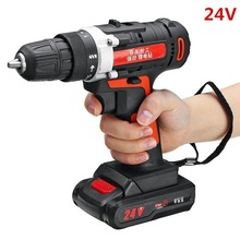 12V 24V Cordless Drill Electric Screwdriver Mini Wireless Power Driver DC Lithium Ion Battery 3/8 Inch Power Tools
