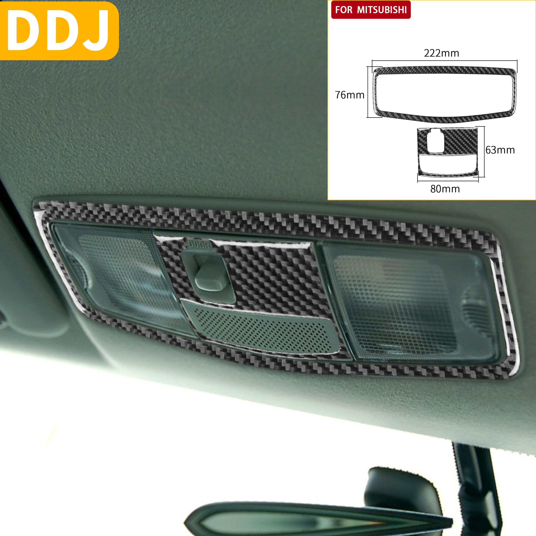 For Mitsubishi Lancer EVO X MR 2008-2015 Overhead Accent Reading Light Panel Frame Carbon Fiber Sticker Trim Car Accessories