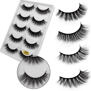 Extension Mink-Eyelashes Natural Makeup Cilio 5-Pairs Fake Thick 3D for Imitation-Mink