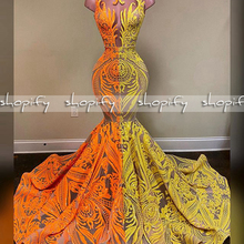 Real Sample Long Prom Dresses 2020 Sheer O-neck Mermaid Styl