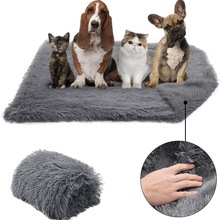Long Plush Pet Dog Blanket Portable Double Thickness Square Pet Bed Blanket Soft Thin